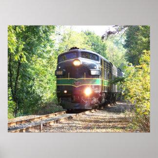 Reading Railroad Lines FP7 Diesel Locomotive 902 Poster