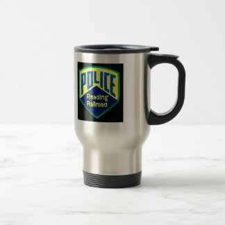 Reading Railroad Police Patch Travel Mug