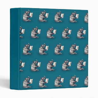 Reading Rhinoceros loves books 3 Ring Binder