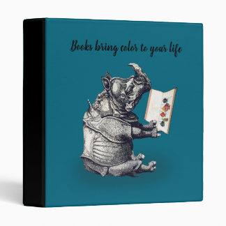 Reading Rhinoceros loves books Binder