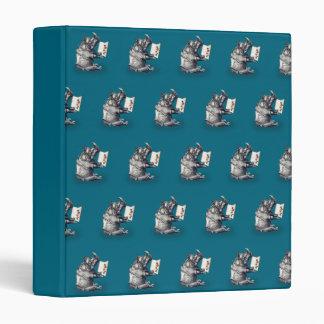 Reading Rhinoceros loves books Vinyl Binders
