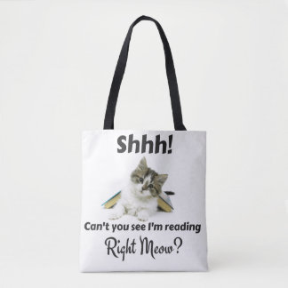 Reading Right Meow Tote