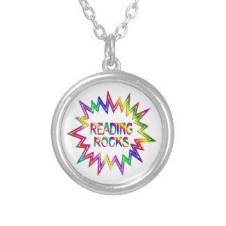 Reading Rocks Silver Plated Necklace