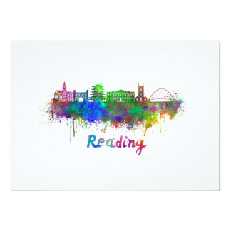 Reading skyline in watercolor card