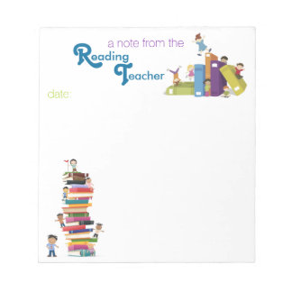 Reading Teacher Note Pad