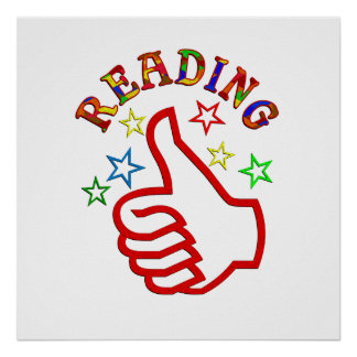 Reading Thumbs Up Poster