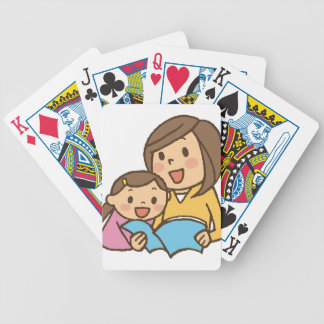 Reading Together Bicycle Playing Cards
