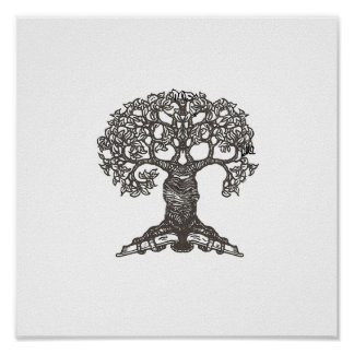 Reading Tree Poster