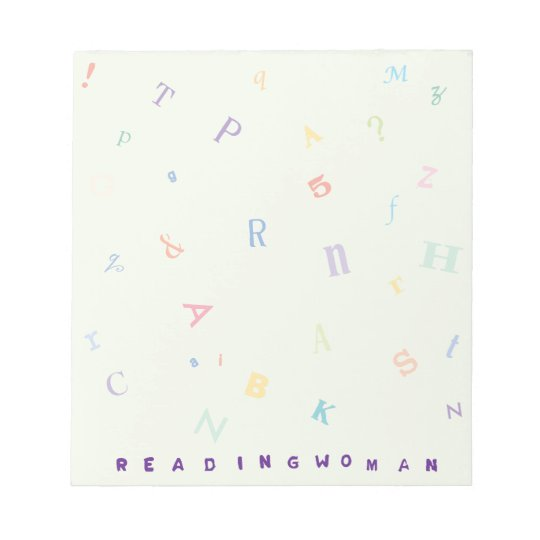 Reading Woman 5.5x6 Notepad