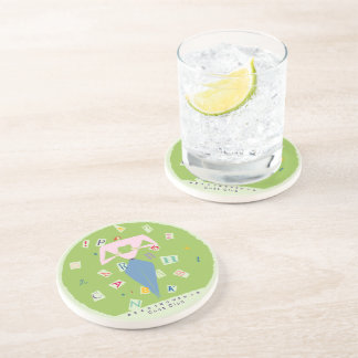 Reading Woman Give Me an A Coaster