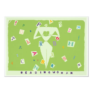 Reading Woman Invitation