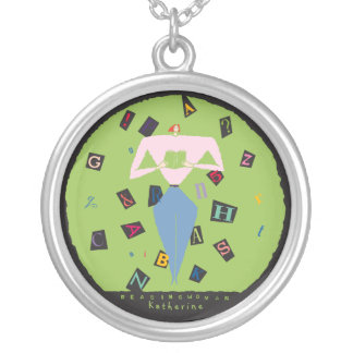Reading Woman Necklace