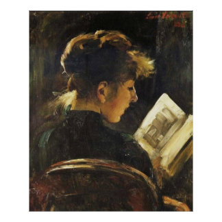 Reading Woman - Reproduction Art Poster