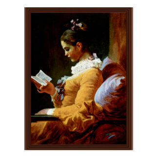 Reading Women By Fragonard Jean-Honoré (Best Quali Postcard
