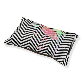 Reads for dog CHEVRON/FLAMANTS ROSE Pet Bed