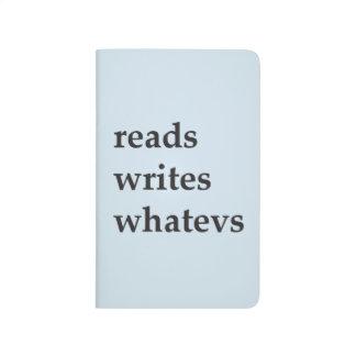 reads, writes, whatevs typewriter journal