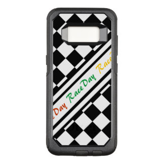Ready 4 Race Day Classic Racing Check Black White OtterBox Commuter Samsung Galaxy S8 Case