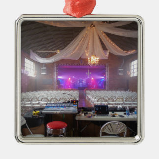 Ready for a Concert Silver-Colored Square Ornament