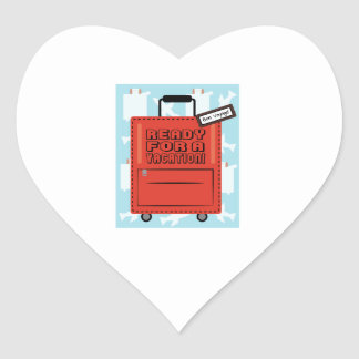 Ready for a Vacation Heart Stickers