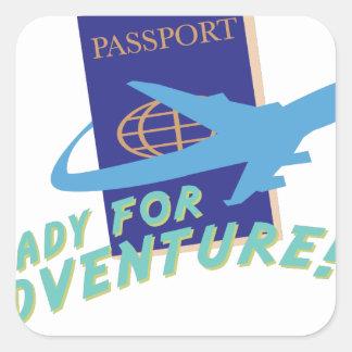 Ready For Adventure Square Sticker