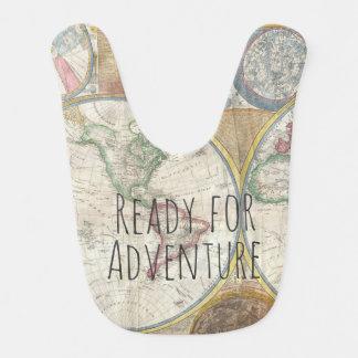 Ready For Adventure Traveler Theme Bib