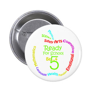 Ready for School B4Five - Apple 2 Inch Round Button