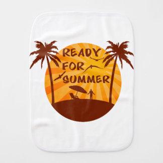 Ready for summer burp cloth