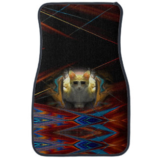 Ready For Take Off Cool Cat Car Mat