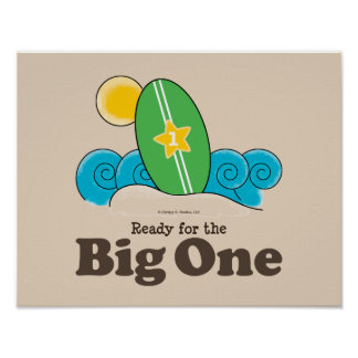 Ready For The Big One Surfboard Surf Poster Print