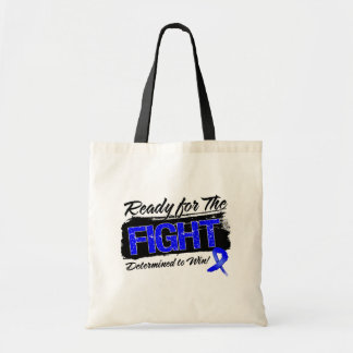Ready For The Fight Colon Cancer Budget Tote Bag