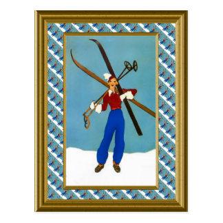 Ready for the ski slopes postcard