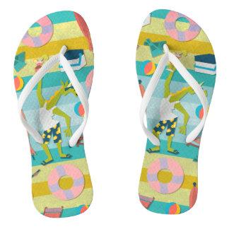 Ready For Unicorn Summer Flip Flops