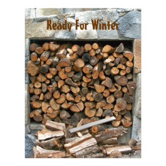Ready for Winter Woodpile Scrapbooking Paper