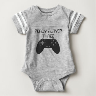 READY PLAYER THREE Gamer Baby Bodysuit