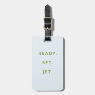 Ready, Set, Jet Blue Luggage Tag