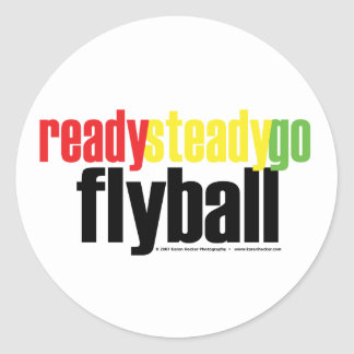 Ready Steady Go Flyball Classic Round Sticker