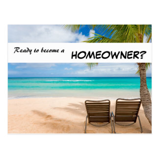 Ready to become a homeowner? Real Estate postcard