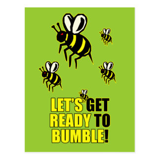 Ready to Bumble Postcard