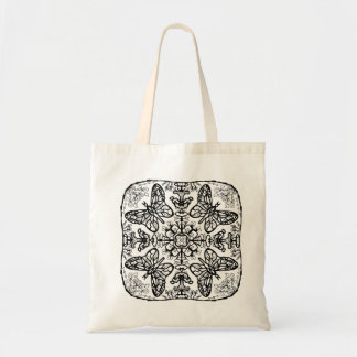 Ready to Color Butterfly Mandala Tote