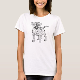 Ready to Color Hippie Puppy Dog Women's Shirt