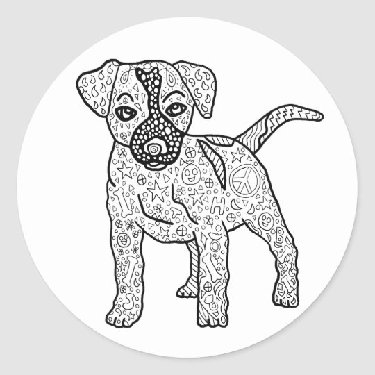 Ready to Colour Hippie Puppy Dog Stickers