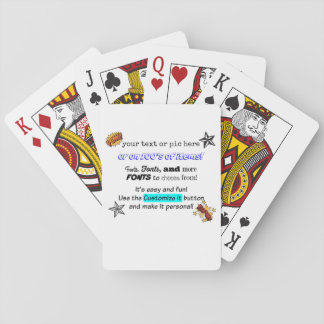 Ready to customize playing card deck.