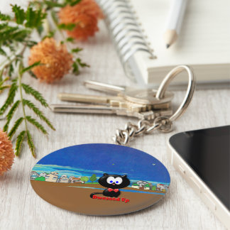 Ready to go out keychain