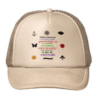 Ready to personalize hat Your PIC or saying