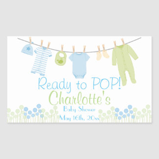 Ready to POP! Baby Clothesline Baby Shower