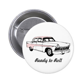 Ready to Roll Vintage Car 2 Inch Round Button