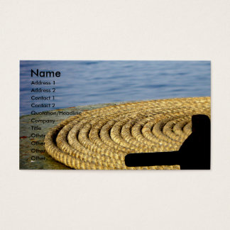 Ready to Sail.../Boat Head Ropes Business Card