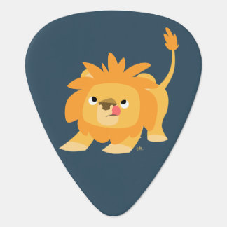 Ready To Spring Cute Cartoon Lion Guitar Pick