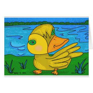 Ready to Swim...by Pop Outsider artist Will Luck Card