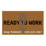 READY TO WORK now.Job Search.Make Money.Labour Business Card
